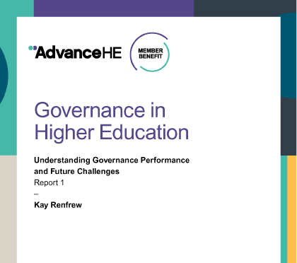 Governance in Higher Education report ocver