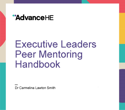 executive leaders peer mentoring handbook cover