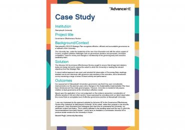 Governance Effectiveness Review Case Study - Aberystwyth University Thumbnail