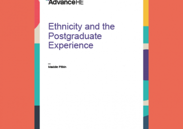 cover of ethnicity and the postgraduate experience report