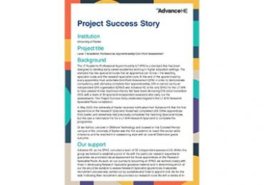 University of Exeter Success Story Cover