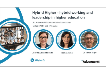 Hybrid working and leadership in HE