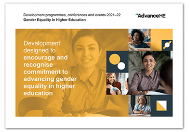 Advance HE Gender Equality in Higher Education programmes and events brochure for 2021–22