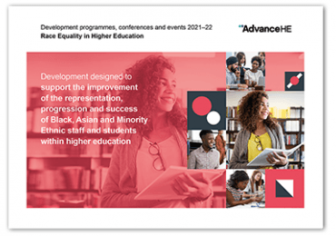 Race Equality in Higher Education programmes and events brochure for 2021–22