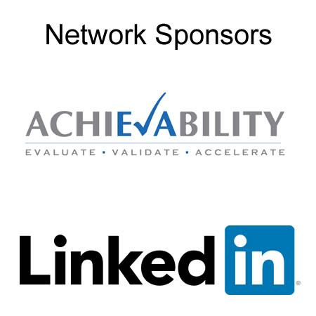 Achievability Linkedin PVC network sponsor logos