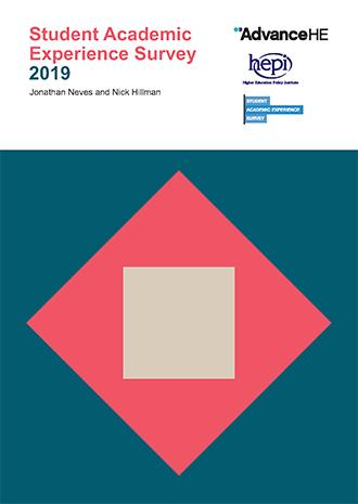 Front cover of the Student Academic Experience Survey 2019