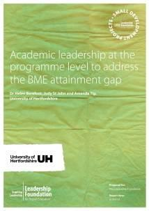 Academic Leadership at the programme level to address the BME attainment gap