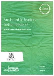 Are humble leaders better leaders