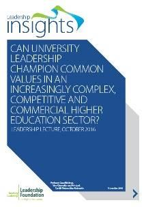 Can university leadership