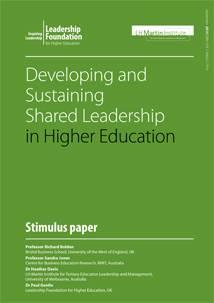 Developing and Sustaining Shared Leadership in Higher Education