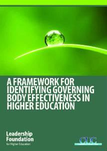 Framework for Identifying Governing Body Effectiveness in Higher Education