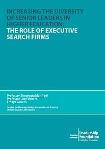 Increasing the Diversity of Senior Leaders in Higher Education: The Role of Executive Search Firms