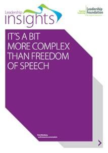 Its a bit more complex than freedom of speech