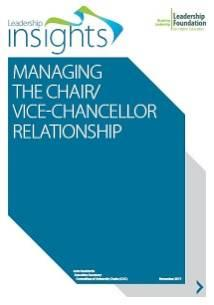 Managing the Chair/Vice-Chancellor Relationship