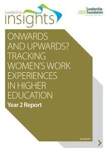 Onwards & upwards? Tracking women's work experiences in higher education - Year 2 Report