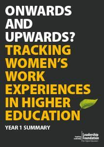 Onwards and Upwards? Tracking women's work experiences in higher education - Summary