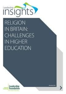 Religion in Britain: Challenges in Higher Education