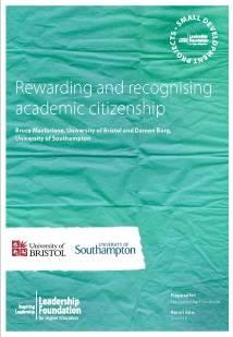 Rewarding and recognising academic citizenship