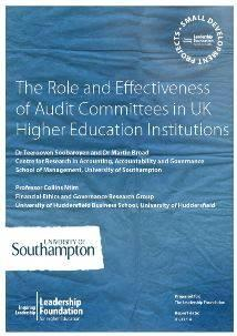 The Role and Effectiveness of Audit Committees in UK Higher Education Institutions