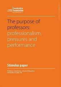 The purpose of professors: professionalism, pressures and performance