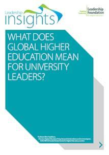 What does global he mean for uni leaders