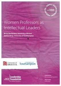 Women professors as intellectual leaders