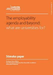 The employability agenda and beyond