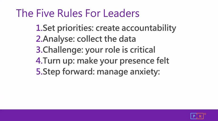 5 rules for leaders