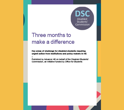 cover of the DSC report 'three months to make a difference'