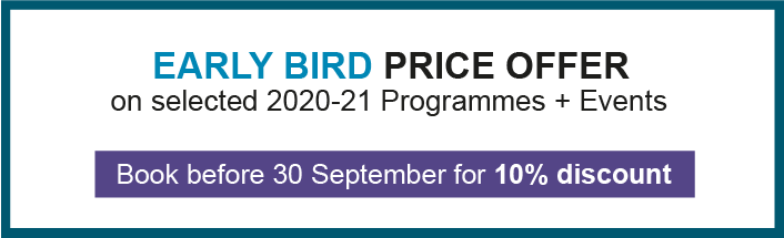 Early Bird price offer - Programmes and Events