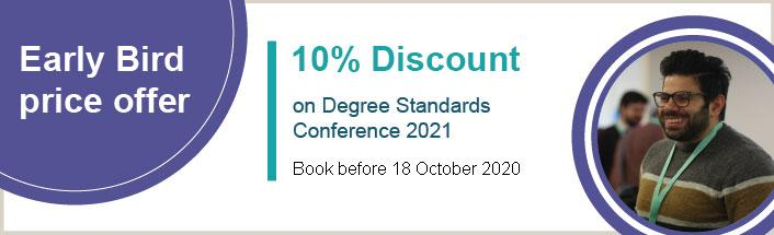 Degree Standards Conference - Early Bird offer