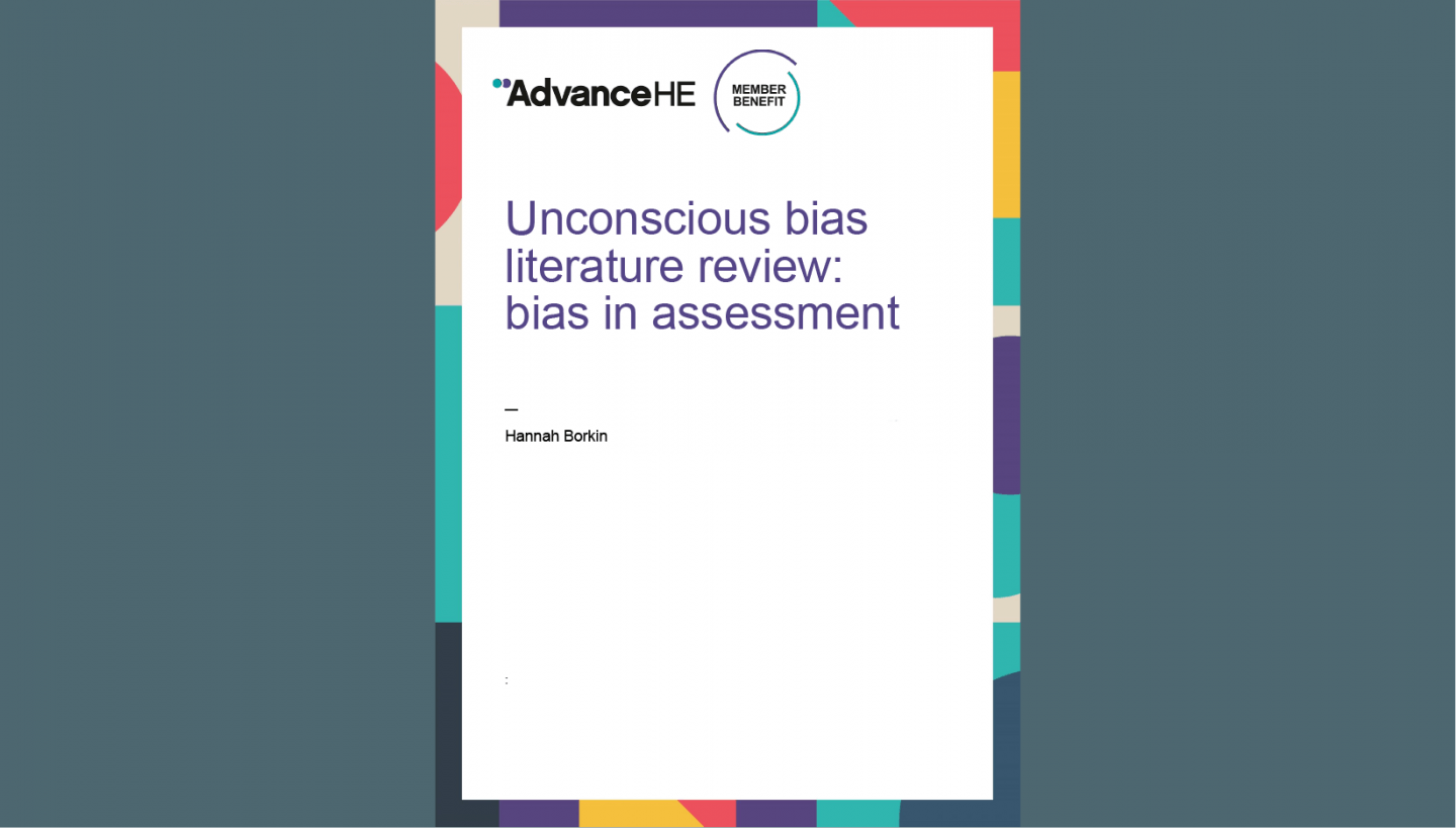 Unconscious bias literature review: bias in assessment