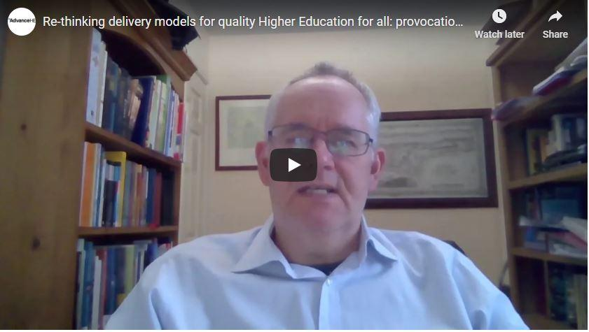 Re-thinking delivery models for quality Higher Education for all: provocation three