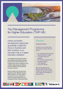 Top Management Programme for Higher Education - Australasia Information Sheet Cover
