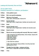Leadership Summit programme