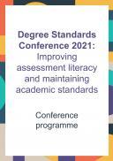 Degree Standards Conference 2021 programme