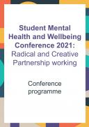 Student Mental Health and Wellbeing Conference - Conference Programme