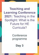 Teaching and Learning Conference - Day 3 Programme