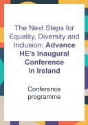 Advance HE's Inaugural Conference in Ireland Programme